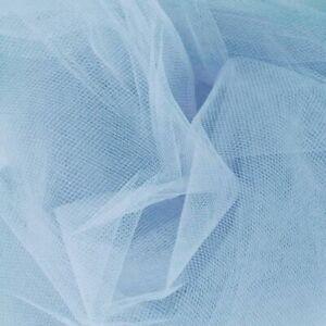 "2 Metres Pale Baby Blue Tulle Net Mesh 60"" Width Tutu Fabric Dressmaking Craft"