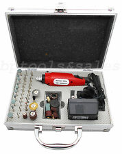 60 Pc Rotary Tool Kit Hobby Craft Cut Drill Grind Glass Jewelry Buffing San
