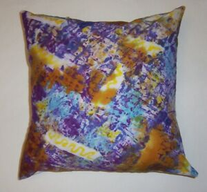 """Throw pillow cover or sham  14"""" hand painted cotton"""