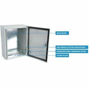 Hylec Sheet Steel Enclosure IP66 Wall Mounted Indoor/Outdoor c/w Back Plate
