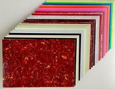 More details for blank pickguard sheet scratchplate material 44 x 29cm many colours 1 3 4 ply
