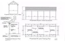 40'x12' CAR PORT RV PORT OUTBUILDING  BLUEPRINTS DRAWINGS  PLANS 17-1240RVPORT
