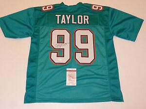 Jason Taylor Signed Miami Dolphins Jersey (JSA) HOF Class of 2017 / Linebacker