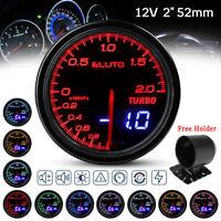Manometro Digitale LED Pressione Turbo KPA Boost Gauge 52mm 12V Auto 10 Color