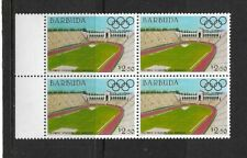 1984 Barbuda - Olympic Games Stadiums - Los Angeles - Block - Unhinged Mint..