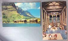2 MONTANA Glacier National Park Many HOTEL Postcard Vintage