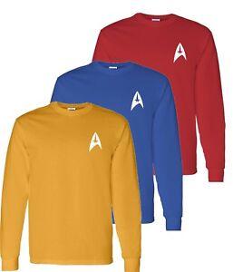Star Trek T-Shirt - Short Sleeve and Long Sleeve - 3 colors -  Sm-5XL