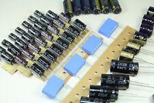 144 pieces Capacitor Kit, 220uF 470uF 680uF 1000uF 2200uF, 10v, 16v, 25v, 35v