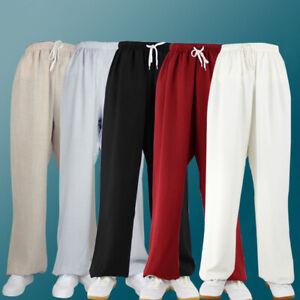 Linen Martial Arts Kung Fu Pants Trousers Loose Wushu Tai Chi Pants Bloomers Hot