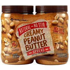 🔥 Member's Mark Natural No Stir Creamy Peanut Butter Spread (40 oz. X 2 ct.)🔥