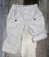 ~ Superbe pantalon en coton blanc 2 en 1 garçon 3 mois ~
