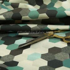 Tessuti e stoffe grigio Geometrico in poliestere per hobby creativi