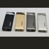 4PCS Honest Ultra Thin Torch Cigarette Lighter Butane Gas Jet Pipe Cigar Lighter