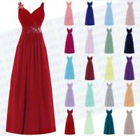 Lace Long Chiffon Bridesmaid Dress Wedding Evening Formal Ball Party Prom Custom