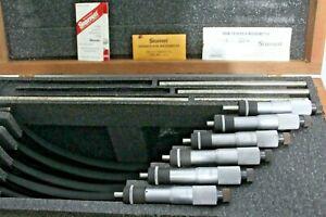 "STARRETT 436 MICROMETER SET 6""-12"" CARBIDE TIPS MACHINIST TOOLS ~Needs Work~"