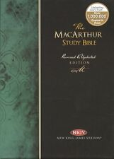 The MacArthur Study Bible, NKJV,Genuine Leather, Revised/Updated, Unused, As New
