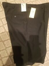 HAGGAR COOL 18 FLAT FRONT SHORTS 4 WAY STRETCH MENS SZ 36 BLACK