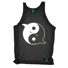 Dolphin Ying Yang diver mask funny Birthday Gift tshirt BELLE VEST SINGLET TOP