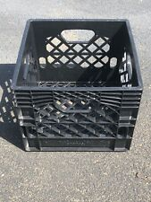 Milk Crate Black Heavy Duty Plastic Stackable Storage Container