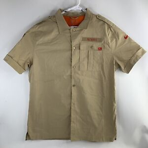 Nike Salute to Service Patriots On Field Button Shirt AT6752-297 Mens Large $90