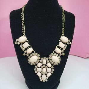 Baublebar Sugarfix Pink Rhinestone Bib Statement Necklace Chic Fashion Jewelry