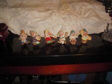 Vintage Disney Snow White (Dwarfs) Figurine Set OF 6 By Schmid