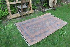 """Vintage Handmade Turkish Area Kilim Rug 65""""x41"""""""