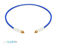 Mogami 2534 Quad Cable   White Amphenol RCA to RCA   Blue 1 Foot 1 Ft. 1'