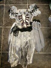 Girls Halloween Zombie bride Costume  7-8 years