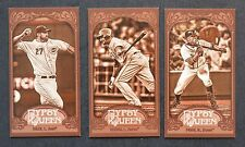 2012 Topps Gypsy Queen Mini Sepia lot of 3 #129 136 216 /99