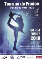 PATINAGE ARTISTIQUE - TOURNOI DE FRANCE 2018 BRIVE-LA-GAILLARDE - FLYER / TRACT