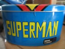 MENS SUPERMAN T-SHIRT IN COLLECTORS TIN - XXL - NEW IN BOX