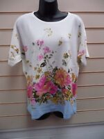 LADIES TOP MULTI SIZE 14 FLORAL KNITWEAR LIGHTWEIGHT CASUAL BNWT