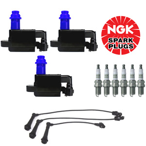 Ignition Coil & Wireset & NGK Platinum Spark Plug For 98-05 Lexus GS300 IS300
