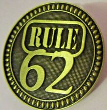 Alcoholics Anonymous 12 Step Rule 62 Bronze AA Medallion Coin Token Chip Sober
