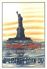 Before sunset 2nd Liberty Loan 1917 world war propaganda poster big art poster