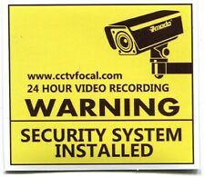 PANNEAU Warning security system installed camera sticker 6.5 x 7.5 cm