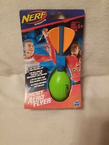 Nerf Vortex Nerf Sports Pocket Size Aero Flyer Football Green Orange Hasbro NEW