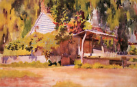 """perfect oil painting handpainted on canvas """"A summer house""""N7567"""