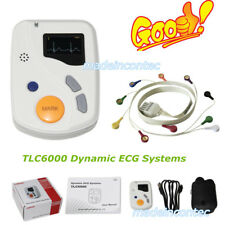Dynamic ECG Systems 12 Leads 48 Hours Sync Software Analysis CONTEC TLC6000