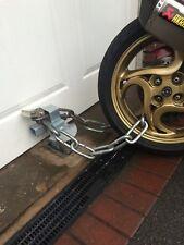 Ground Anchor + Garage Defender, Garage Door Security Post. Motorcycle, Trailer