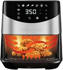 Gourmia 6-Qt. Digital Air Fryer w/Non-Stick Basket and Rack Stainless Steel NEW