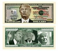 Pack of 100 - Donald Trump Dump Trump Four Billion Dollar Bills - Highly Coll...
