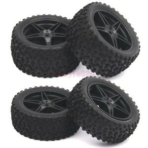 RC 1/10 Off-Road Car Buggy Front & Rear Rubber Tyre Tires &Wheel Rim 66005-66025