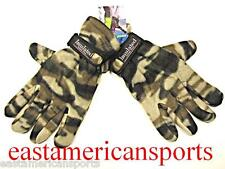 Camouflage Camo Insulated Thermo Fuzzy Fleece Gloves Tan Khaki Hunting Ski Army