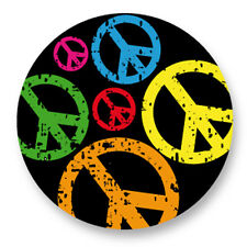 """Pin Button Badge Ø25mm 1"""" Peace and Love Paix Amour Paz Frieden Pace"""