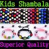 5*10MM CZ Disco Ball KIDS Shamballa Bracelet Baby Handchain Jewelry Child Gift