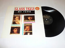 """GLASS TIGER FEATURING ROD STEWART - My Town - Scarce 1991 UK deleted 3-track 12"""""""