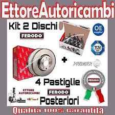 KIT DISCHI + PASTIGLIE FERODO POSTERIORI VW GOLF 4 IV DAL 1997 AL 2004  NUOVI