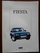 FORD FIESTA Range 1987 German Mkt brochure, colour chart, price list & specs set